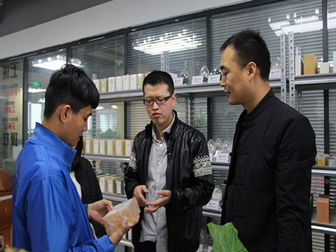 Vietnam Customers Inspecting Products